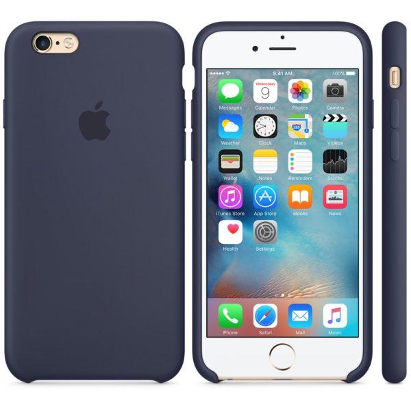 Чехол iPhone 6s Puls Silicone Case Midnight Blue - ТвойGadget