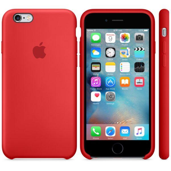 Чехол iPhone 6s Silicone Case Red - ТвойGadget