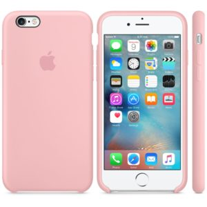 Чехол iPhone 6s Plus Silicone Case Pink - ТвойGadget