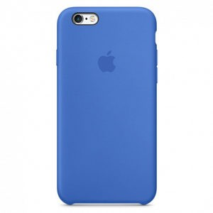 Чехол iPhone SE Silicone Case Blue - ТвойGadget