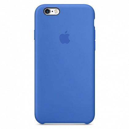 Чехол iPhone SE Silicone Case Blue - ТвойGadget