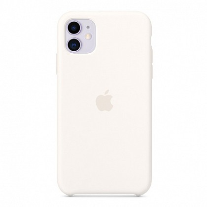 Чехол iPhone 11 Silicone Case White - ТвойGadget