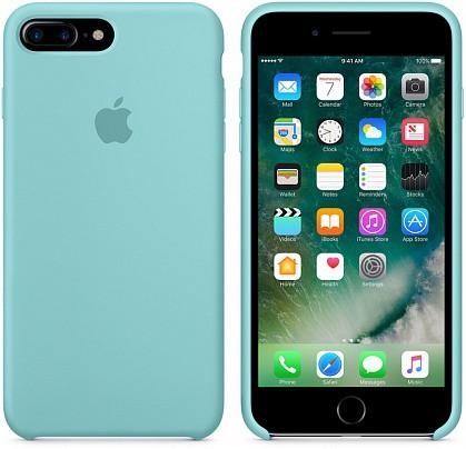 Чехол iPhone 8/7 Plus Silicone Case Sea Blue - ТвойGadget