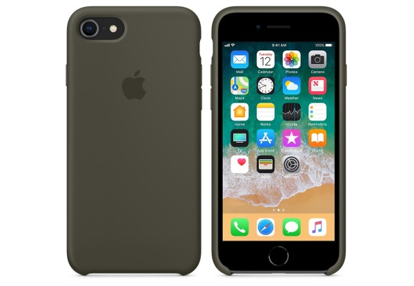 Чехол iPhone 8/7 Silicone Case Dark Olive - ТвойGadget