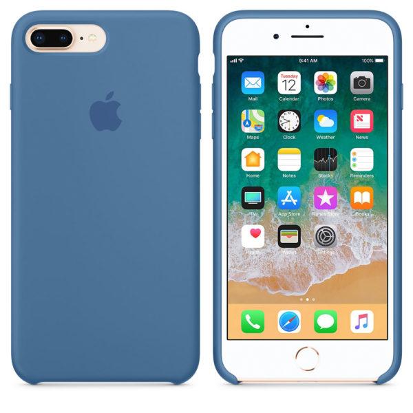 Чехол iPhone 8/7 Plus Silicone Case Denim Blue - ТвойGadget