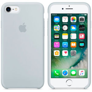 Чехол iPhone 8/7 Silicone Case Mist Blue - ТвойGadget