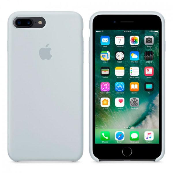 Чехол iPhone 8/7 Plus Silicone Case Mist Blue - ТвойGadget