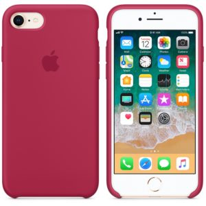 Чехол iPhone 8/7 Plus Silicone Case Rose Red - ТвойGadget