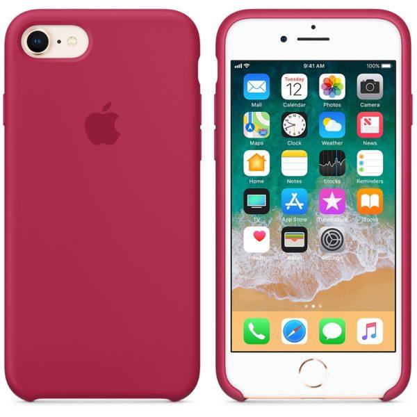 Чехол iPhone 8/7 Plus Silicone Case Rose Red - ТвойGadget