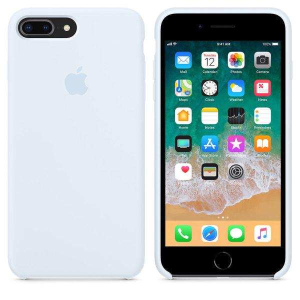 Чехол iPhone 8/7 Plus Silicone Case Sky Blue - ТвойGadget
