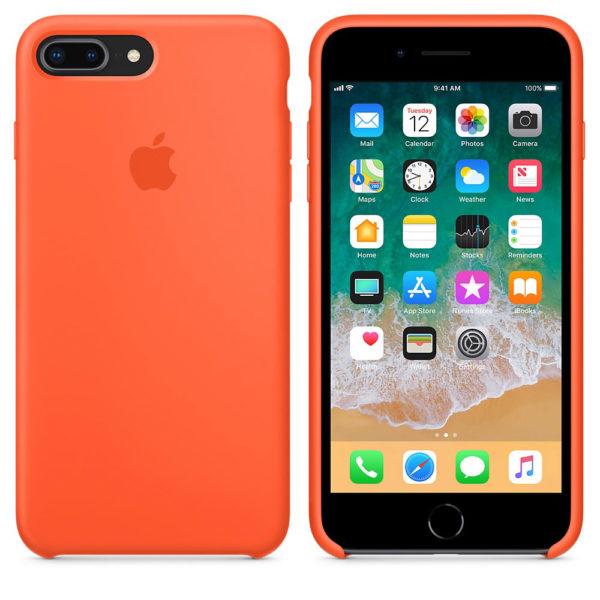 Чехол iPhone 8/7 Plus Silicone Case Spicy Orange - ТвойGadget