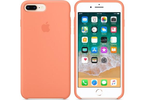 Чехол iPhone 8/7 Plus Silicone Case Peach - ТвойGadget