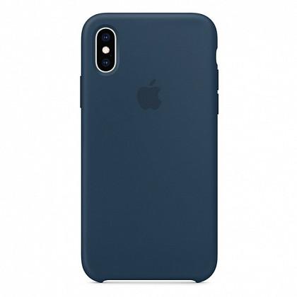 Чехол iPhone XS Silicone Case Pacific Green - ТвойGadget