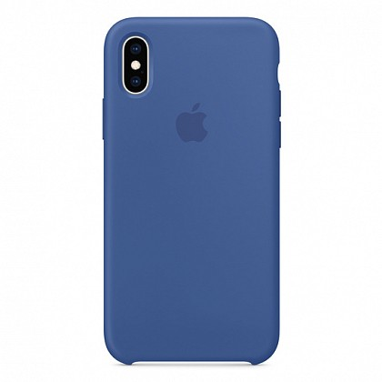 Чехол iPhone XS Silicone Case Delft Blue - ТвойGadget