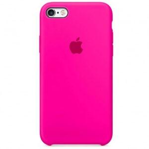 Чехол iPhone SE Silicone Case Electric Pink - ТвойGadget
