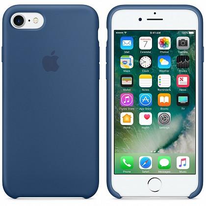 Чехол iPhone 8/7 Silicone Case Ocean Blue - ТвойGadget