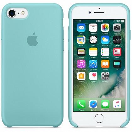 Чехол iPhone 8/7 Silicone Case Sea Blue - ТвойGadget