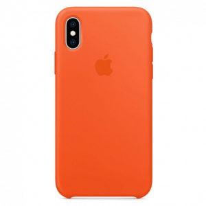 Чехол iPhone X Silicone Case Spicy Orange - ТвойGadget