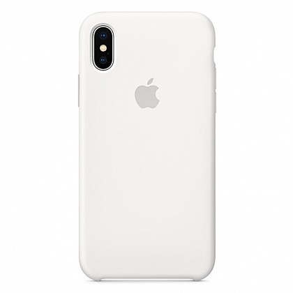 Чехол iPhone XS Max Silicone Case White - ТвойGadget