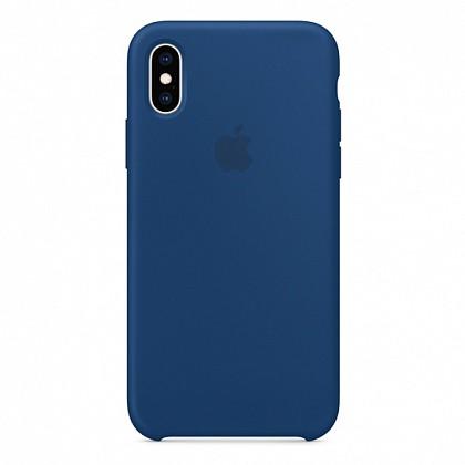 Чехол iPhone XS Silicone Case Blue Horizon - ТвойGadget