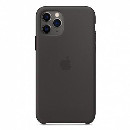 Чехол iPhone 11 Pro Max Silicone Case Black - ТвойGadget