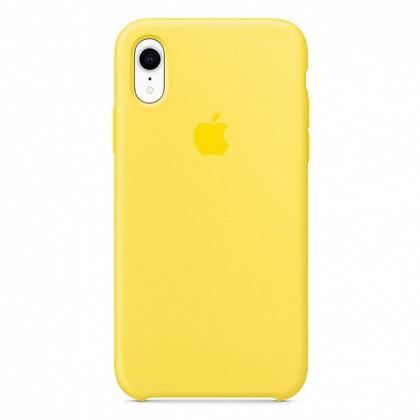 Чехол iPhone XR Silicone Case Canary Yellow - ТвойGadget