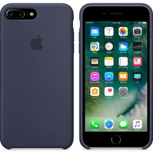Чехол iPhone 8/7 Plus Silicone Case Midnight Blue - ТвойGadget
