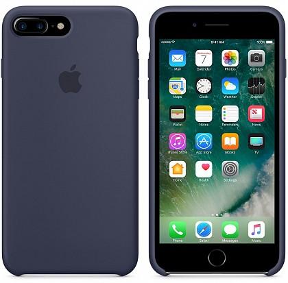 Чехол iPhone 8/7 Plus Silicone Case Midnight Blue - ТвойGadget
