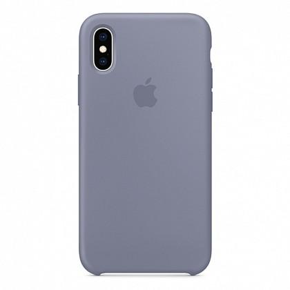 Чехол iPhone XS Silicone Case Lavender Gray - ТвойGadget