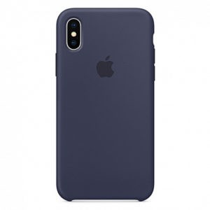 Чехол iPhone XS Silicone Case Midnight Blue - ТвойGadget