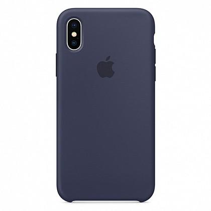 Чехол iPhone X Silicone Case Midnight Blue - ТвойGadget