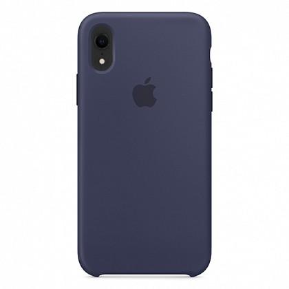 Чехол iPhone XR Silicone Case Midnight Blue - ТвойGadget