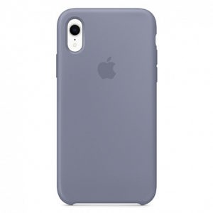Чехол iPhone XR Silicone Case Lavander Gray - ТвойGadget