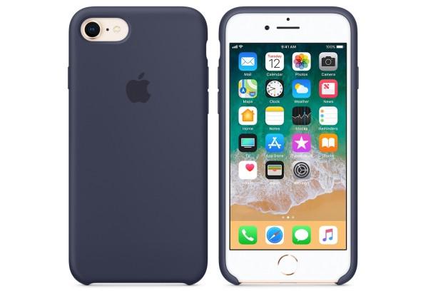 Чехол iPhone 8/7 Silicone Case Midnight Blue - ТвойGadget