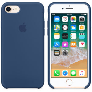 Чехол iPhone 8/7 Silicone Case Blue Cobalt - ТвойGadget