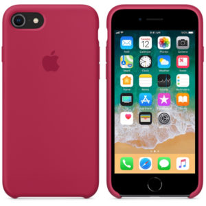 Чехол iPhone 8/7 Silicone Case Rose Red - ТвойGadget