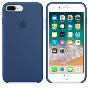 Чехол iPhone 8/7 Plus Silicone Case Blue Cobalt - ТвойGadget