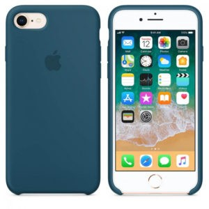 Чехол iPhone 8/7 Silicone Case Cosmos Blue - ТвойGadget