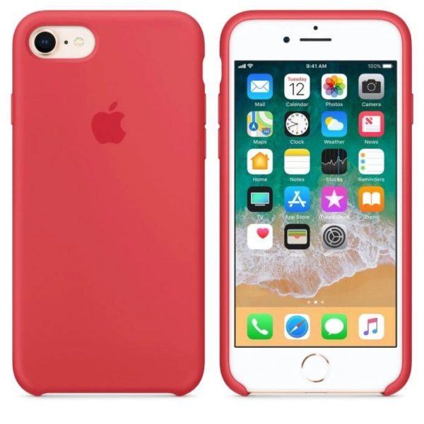 Чехол iPhone 8/7 Silicone Case Red Raspberry - ТвойGadget