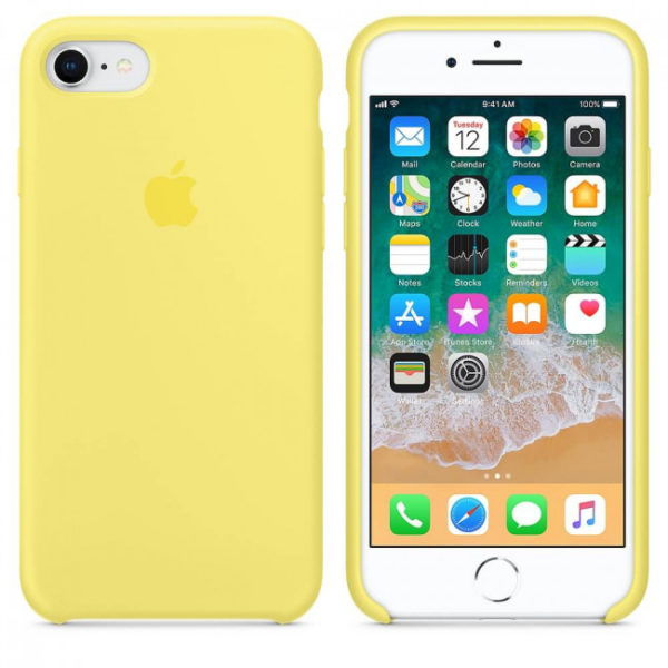 Чехол iPhone 8/7 Silicone Case Lemonade - ТвойGadget