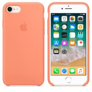 Чехол iPhone 8/7 Silicone Case Peach - ТвойGadget