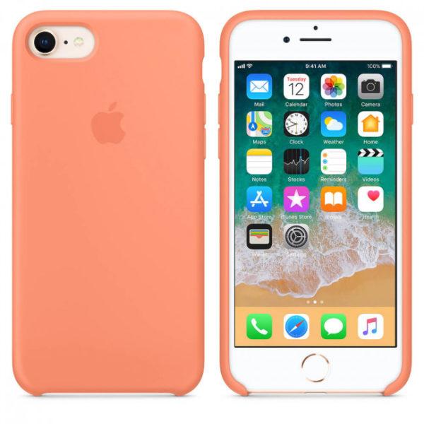 Чехол iPhone 8/7 Silicone Case Peach - ТвойGadget