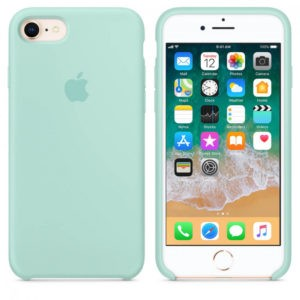 Чехол iPhone 8/7 Silicone Case Marine Green - ТвойGadget