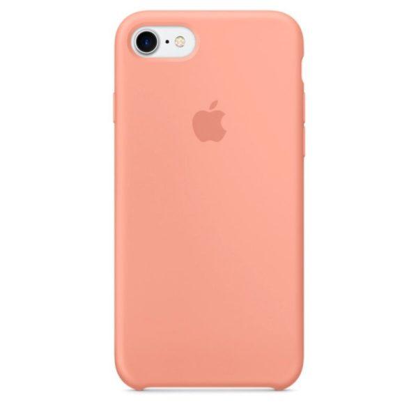 Чехол iPhone SE Silicone Case Peach - ТвойGadget