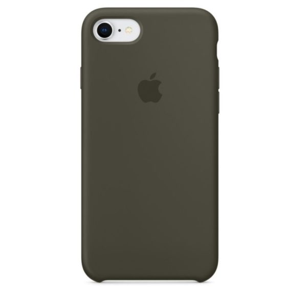 Чехол iPhone SE Silicone Case Dark Olive - ТвойGadget