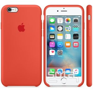 Чехол iPhone 6s Silicone Case Orange - ТвойGadget
