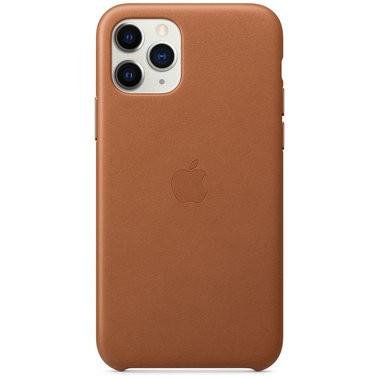 Чехол кожаный оригинальный iPhone 11 Pro Leather Case – Saddle Brown (MWYD2) - ТвойGadget