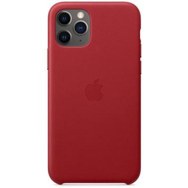 Чехол кожаный оригинальный iPhone 11 Pro Leather Case – PRODUCT Red (MWYF2) - ТвойGadget