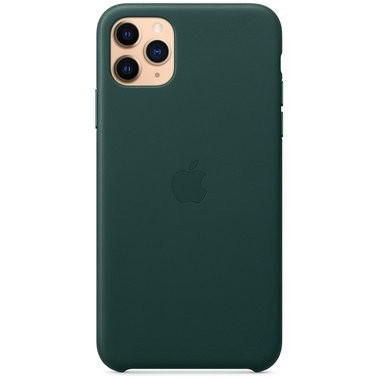 Чехол кожаный оригинальный iPhone 11 Pro Leather Case — Forest Green (MWYC2) - ТвойGadget