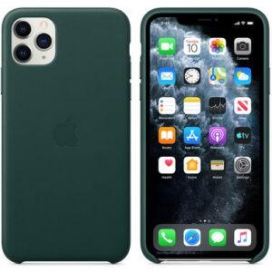 Чехол кожаный оригинальный iPhone 11 Pro Leather Case – Forest Green (MWYC2) - ТвойGadget